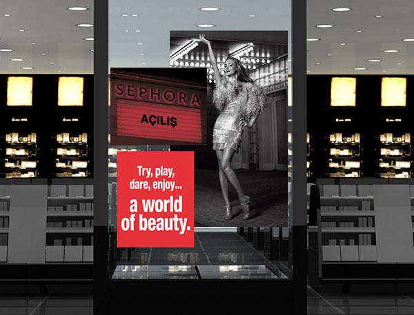 Sephora Window Display